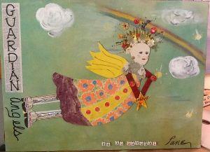 Artist Susan Lane makes each Guardian Angel.