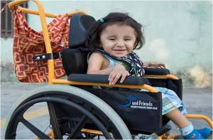 Wheelchair Bags are beautiful and sturdy, made for the Joni & Friends' charity, Wheels for The World.