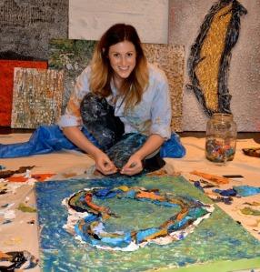 Artist Rachel Rubenstein and her heart inspired auction piece for Union Station.