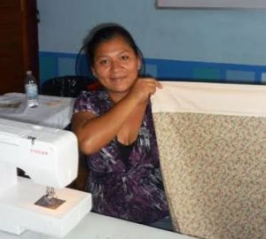 Using sewing machines to open doors.