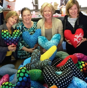 Heart Pillows Group